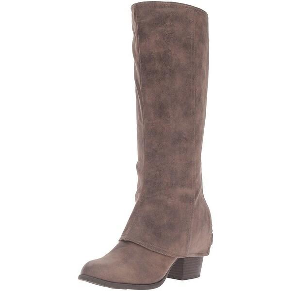 Fergalicious Womens Lundry Fabric Closed Toe Mid-Calf Fashion Boots