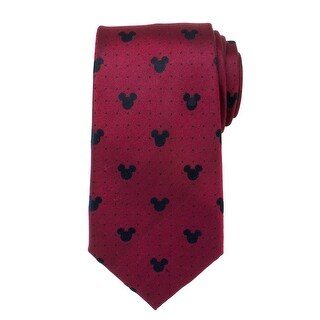 Mickey Mouse Red Pin Dot Mens Tie