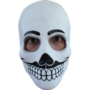 Mens Skull Day Of The Dead Catrin Adult Costume Mask
