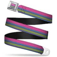 Rz Chevron Stripes Fc Pinks Blues Greens Rz Chevron Stripes Pinks Blues Seatbelt Belt