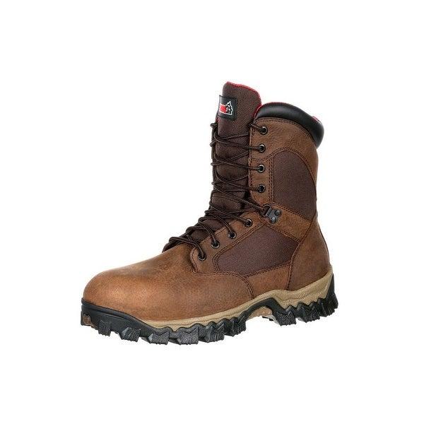 Rocky Work Boots Men Alphaforce Composite Toe Waterproof Brown