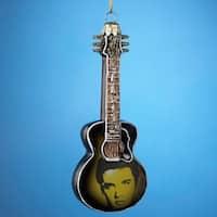 "Pack of 6 Decorative Elvis Presley Guitar Glass Christmas Ornaments 5"" - multi"