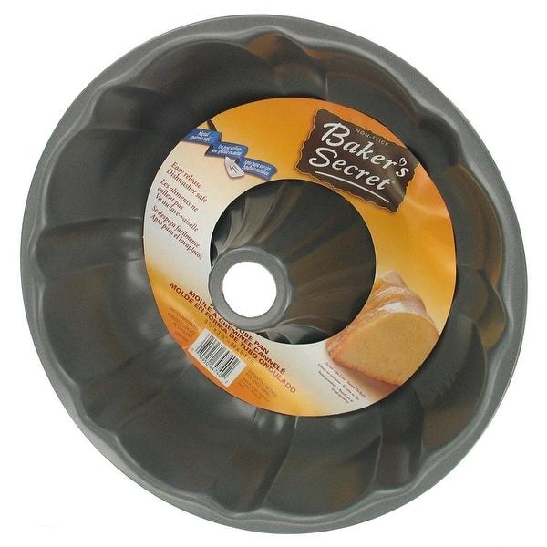 Baker's Secret Basics Nonstick Fluted Tube Pan, 9.6x3.3 Inches - Silver