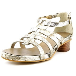 Vaneli Kezia Women Open Toe Leather Silver Sandals
