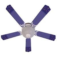 Purple Shooting Stars Designer 52in Ceiling Fan Blades Set - Multi