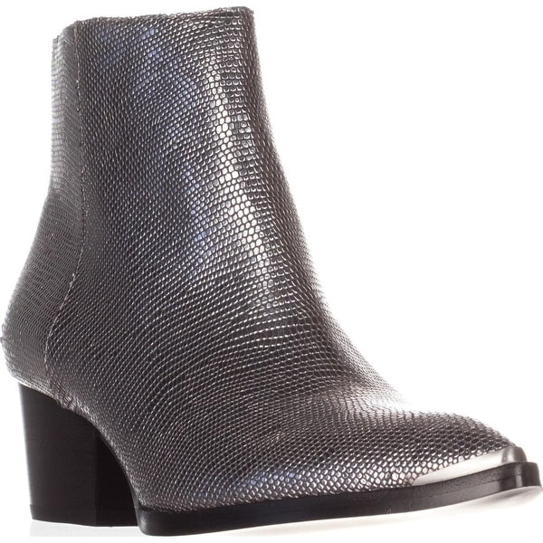 Calvin Klein Jeans Narice Ankle Boots, Silver Lizard