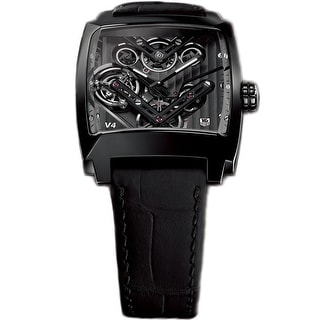 Link to Tag Heuer Men's WAW2081.FC6348 'Monaco' Black Leather Watch Similar Items in Men's Watches