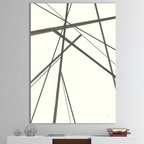 Designart 'minimalist black and white III' Transitional Canvas Art