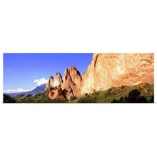 """Rock formations on a landscape, Garden of The Gods, Colorado Springs, Colorado"" Poster Print"
