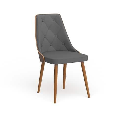 Carson Carrington Arvika Mid-century Modern Walnut Wood Dining Chair - N/A