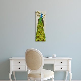 Easy Art Prints Melissa Wang's 'Vintage Peacock I' Premium Canvas Art