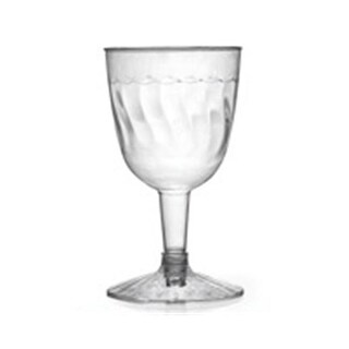 Fineline Settings 2207 Flairware 6 oz Clear Wine Goblet 2 Piece