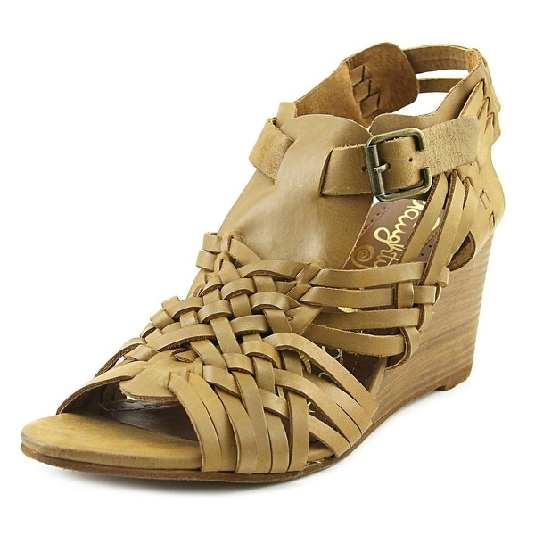 Naughty Monkey Dually Noted Women Open Toe Leather Tan Sandals