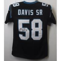 Thomas Davis Autographed Carolina Panthers Size XL Black Jersey  JSA