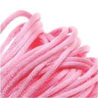 Rayon Satin Rattail 1mm Cord - Knot & Braid - Pink (6 Yards)