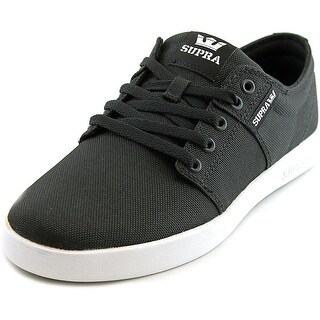 Supra Stacks II Men Black/White Skateboarding Shoes