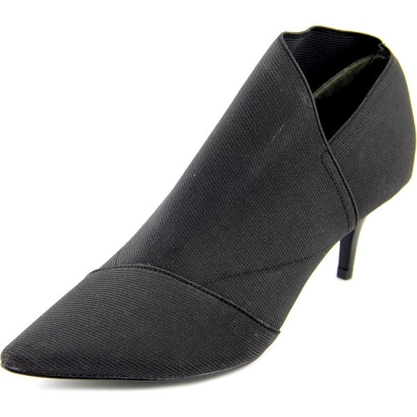 Adrianna Papell Hermes Women Pointed Toe Canvas Black Bootie