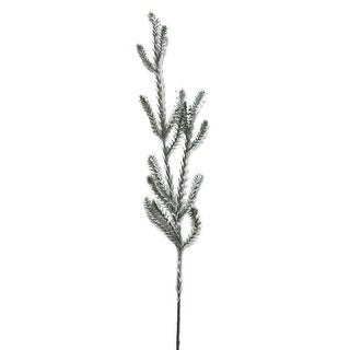 30 Decorative Sparkling Snow Flocked Artificial Pine Christmas Branch Spray