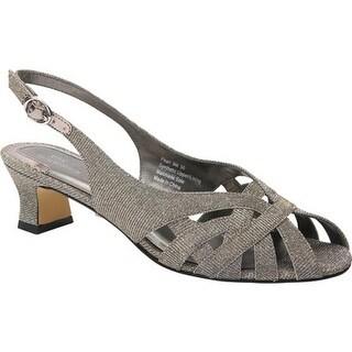 Ros Hommerson Women's Pearl Slingback Silver Iridescent Glitter
