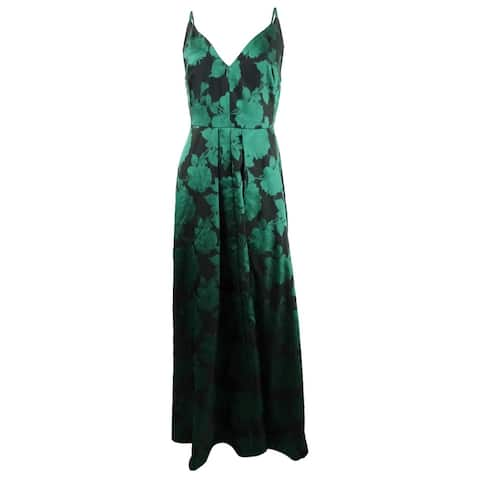 Calvin Klein Women's Sleeveless Floral-Print Gown