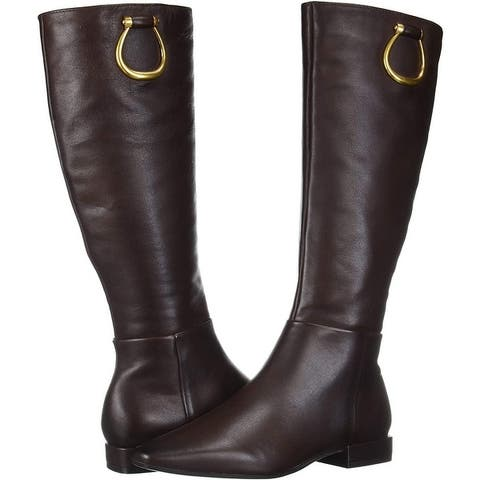 Naturalizer Women's Shoes Carella Leather Square Toe Knee High Fashion Boots