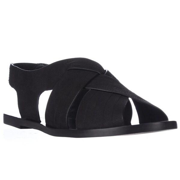 Elie Tahari Seacliff Flat Huarache Sandals, Black - 7 us / 37 eu