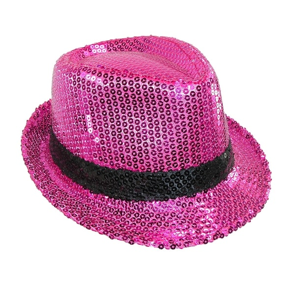 Something Special Women's Dressy Sequin Dance Fedora Hat