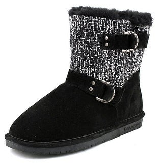 Bearpaw Nova Women  Round Toe Suede Black Winter Boot