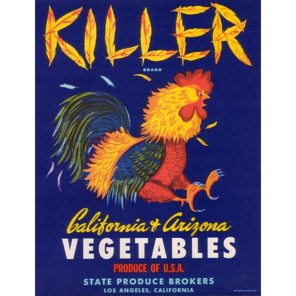 Killer Vegetable - Vintage Label (Light Switchplate Cover)