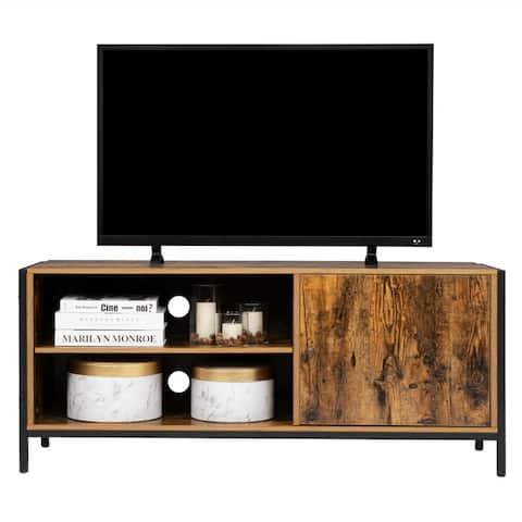 """45"""" Vintage Single Door Wood TV Stand Cabinet Rustic Brown - n/a"""