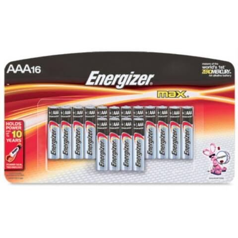 Energizer E92LP-16 Max Alkaline AAA Battery, 16-Pack