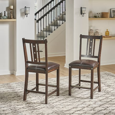 Simply Solid Solana Solid Wood Counter Stools (Set of 2)