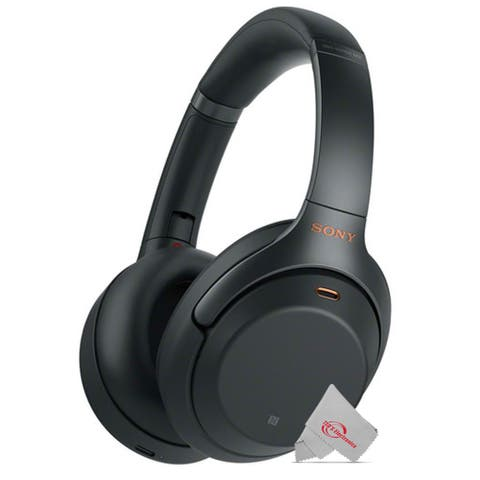 Sony WH-1000XM3 Wireless Noise-Canceling Over-Ear Headphones (Black) with Mic and Alexa Voice Control
