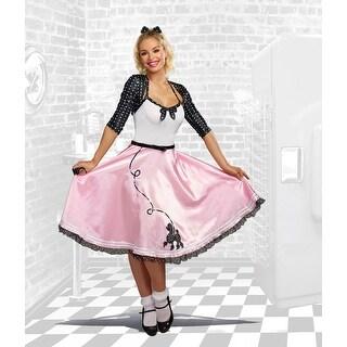 Rock Around the Clock Women's Costume - Pink
