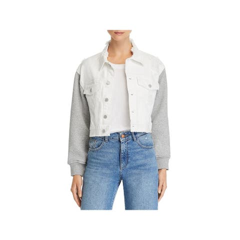 [BLANKNYC] Womens Jacket Denim/Fleece Distressed - Final Mission - L