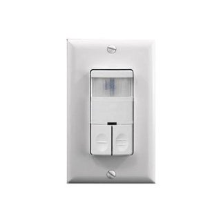 Wall Switch Occupancy Sensor Dual Relay - White