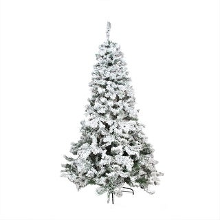 9' Heavily Flocked Pine Medium Artificial Christmas Tree - Unlit