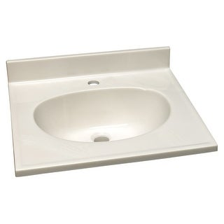 "Design House 522011 31"" Engineered Stone Vanity Top with Backsplash and Integrat - Solid White"
