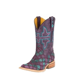 Tin Haul Western Boots Womens Eagle Purple