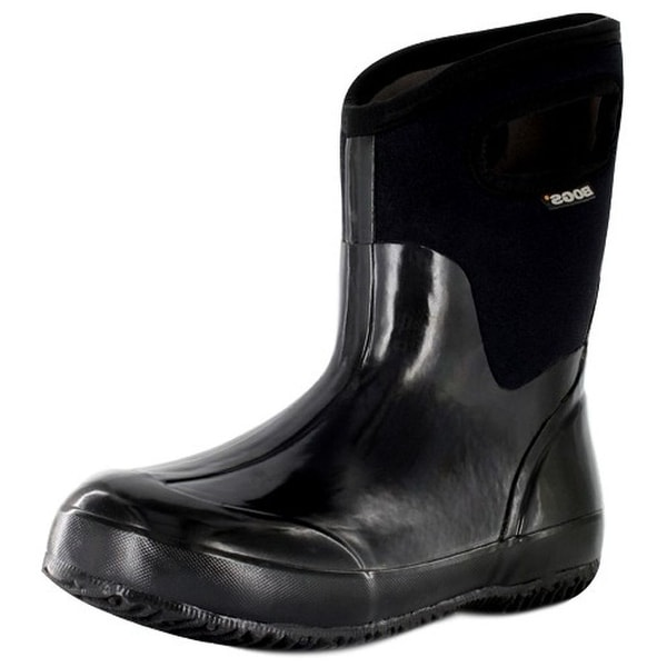 Bogs Outdoor Boots Womens Classic Mid Handles Waterproof Black