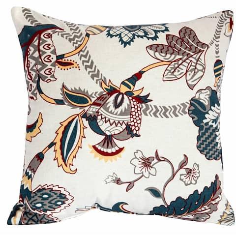 100 Percent Cotton Floral Pillow