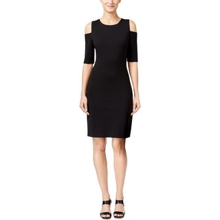 MICHAEL Michael Kors Womens Wear to Work Dress Ponte Cold Shoulder