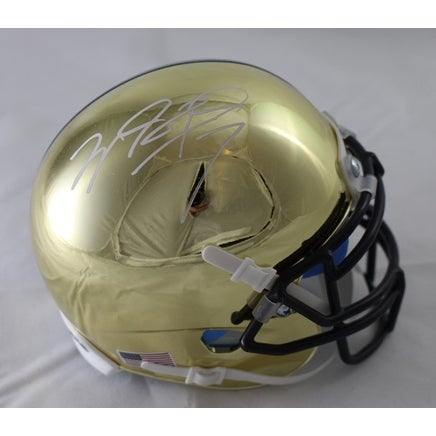 Autographed//Signed Joe Montana Notre Dame Blue College Football Jersey JSA COA