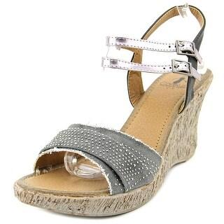 Corkys Dollar Women Open Toe Synthetic Wedge Sandal