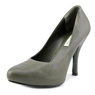 Deimille Donna   Round Toe Leather  Heels