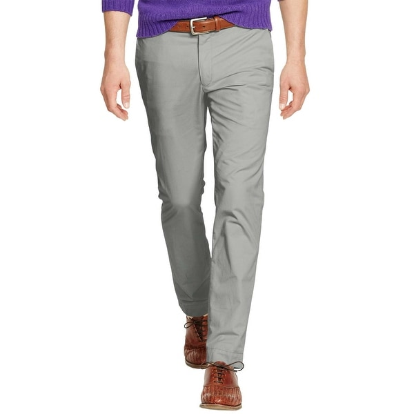63211692 Polo Ralph Lauren Classic Fit Metal Grey Stretch Chinos Pants 36 x 30