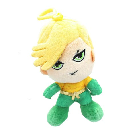 DC Comics Heroez Clipz 4 Inch Collectible Mini Plush - Aquaman - Multi