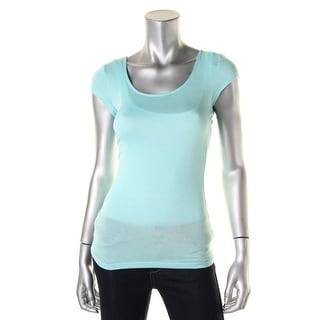 Ultra Flirt Womens Juniors Solid Short Sleeves Ballet Top - XS