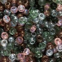 Czech Seed Beads 6/0 'Tourmaline Tapestries' Violets Greens (1 Oz)