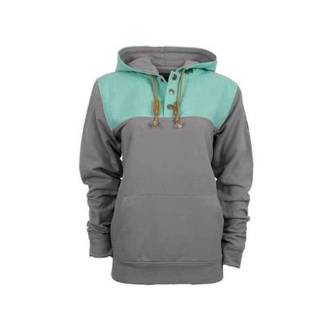 StS Ranchwear Western Sweatshirt Womens Ryland Hood Gray Turq